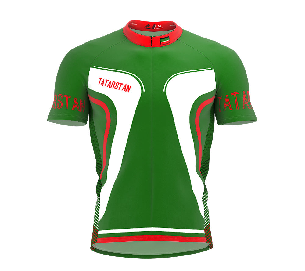 Tatarstan  Full Zipper Bike Short Sleeve Cycling Jersey