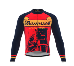 ScudoPro Pro Thermal Long Sleeve Cycling Jersey Tennessee USA state Icon landmark identity  | Men and Women