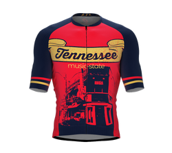 ScudoPro Pro-Elite Short Sleeve Cycling Jersey Tennessee USA State Icon landmark symbol identity  | Men and Women