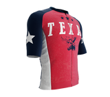 ScudoPro Pro-Elite Short Sleeve Cycling Jersey Texas USA State Icon landmark symbol identity  | Men and Women