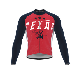 ScudoPro Pro Thermal Long Sleeve Cycling Jersey Texas USA state Icon landmark identity  | Men and Women