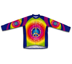 Tie Dye Hippy Winter Thermal Cycling Jersey