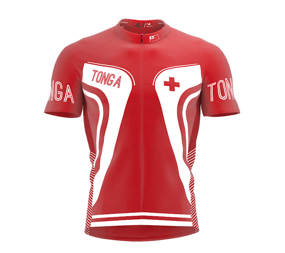 Tonga  Full Zipper Bike Short Sleeve Cycling Jersey