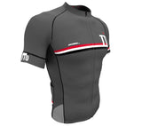 Trinidad And Tobago Gray CODE Short Sleeve Cycling PRO Jersey for Men and Women