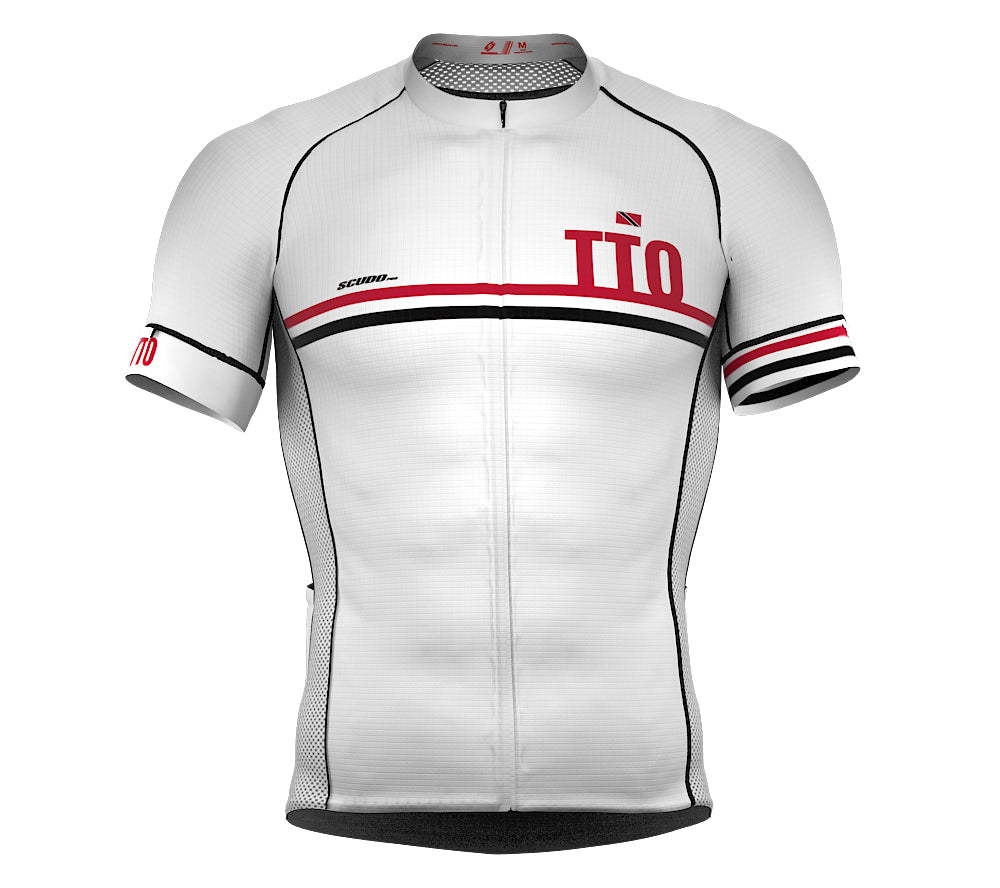 Trinidad And Tobago White CODE Short Sleeve Cycling PRO Jersey for Men and WomenTrinidad And Tobago White CODE Short Sleeve Cycling PRO Jersey for Men and Women