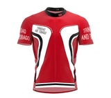 Trinidad And Tobago  Full Zipper Bike Short Sleeve Cycling Jersey
