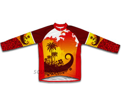 Tropical Sunset Winter Thermal Cycling Jersey
