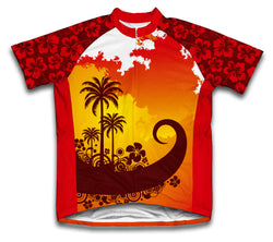 Tropical Sunset Short Sleeve Cycling Jersey for Men and Women