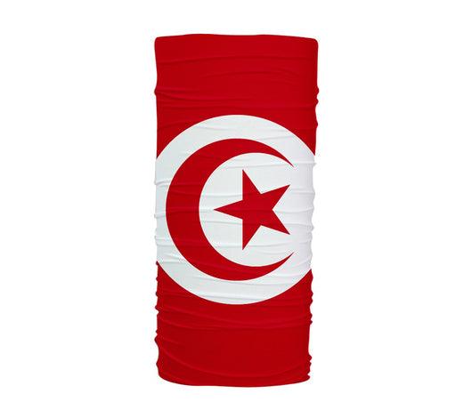 Tunisia Flag Multifunctional UV Protection Headband