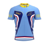 Tuvalu  Full Zipper Bike Short Sleeve Cycling Jersey