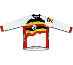 Uganda Flag Winter Thermal Cycling Jersey