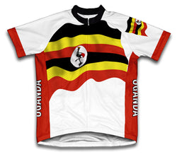 Uganda Flag Cycling Jersey for Men and Women