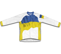 Ukraine Flag Winter Thermal Cycling Jersey