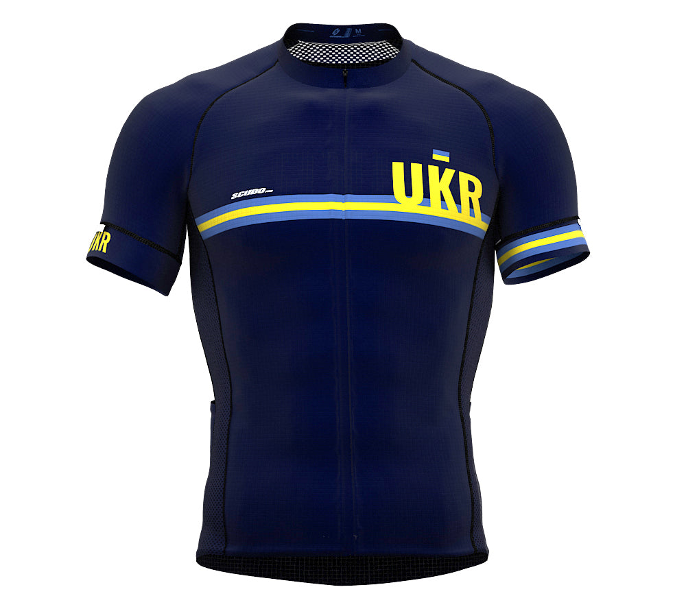 Ukraine Blue CODE Short Sleeve Cycling PRO Jersey for Men and WomenUkraine Blue CODE Short Sleeve Cycling PRO Jersey for Men and Women