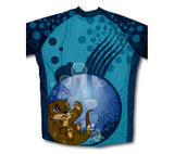 Underwater Baby Otter Winter Thermal Cycling Jersey