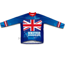 United Kingdom Flag Winter Thermal Cycling Jersey