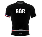United Kingdom Black CODE Short Sleeve Cycling PRO Jersey for Men and Women