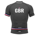 United Kingdom Gray CODE Short Sleeve Cycling PRO Jersey for Men and Women