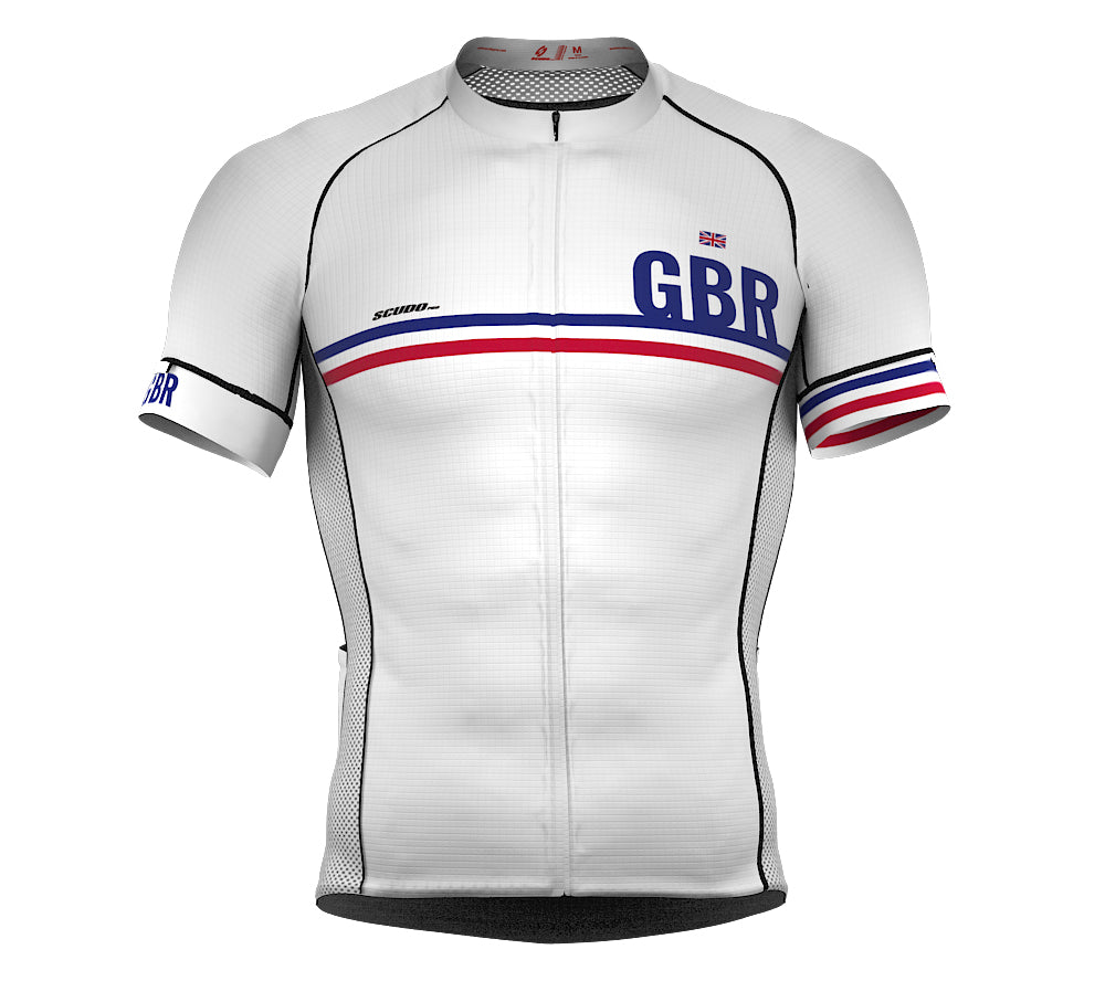 United Kingdom White CODE Short Sleeve Cycling PRO Jersey for Men and WomenUnited Kingdom White CODE Short Sleeve Cycling PRO Jersey for Men and Women