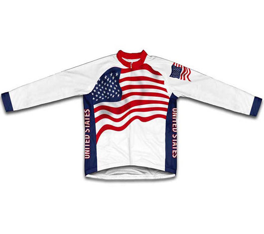 United States Flag Winter Thermal Cycling Jersey