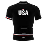United States Black CODE Short Sleeve Cycling PRO Jersey for Men and Women
