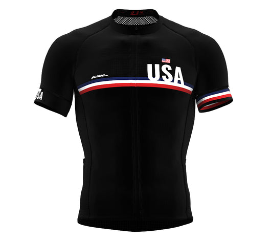 United States Black CODE Short Sleeve Cycling PRO Jersey for Men and WomenUnited States Black CODE Short Sleeve Cycling PRO Jersey for Men and Women