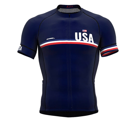United States Blue CODE Short Sleeve Cycling PRO Jersey for Men and WomenUnited States Blue CODE Short Sleeve Cycling PRO Jersey for Men and Women