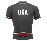 United States Gray CODE Short Sleeve Cycling PRO Jersey for Men and Women
