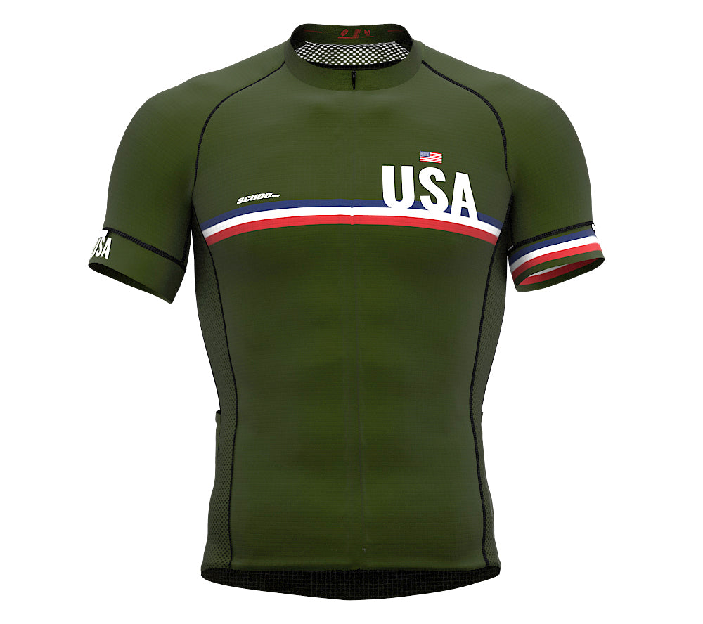 United States Green CODE Short Sleeve Cycling PRO Jersey for Men and WomenUnited States Green CODE Short Sleeve Cycling PRO Jersey for Men and Women