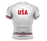 United States White CODE Short Sleeve Cycling PRO Jersey for Men and Women