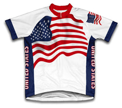 United States Flag Cycling Jersey for Men and Women