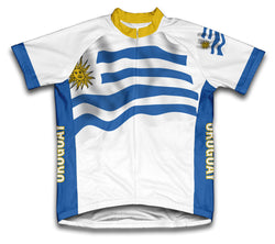 Uruguay Flag Cycling Jersey for Men and Women