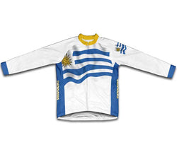 Uruguay Flag Winter Thermal Cycling Jersey
