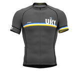 Uruguay Gray CODE Short Sleeve Cycling PRO Jersey for Men and WomenUruguay Gray CODE Short Sleeve Cycling PRO Jersey for Men and Women