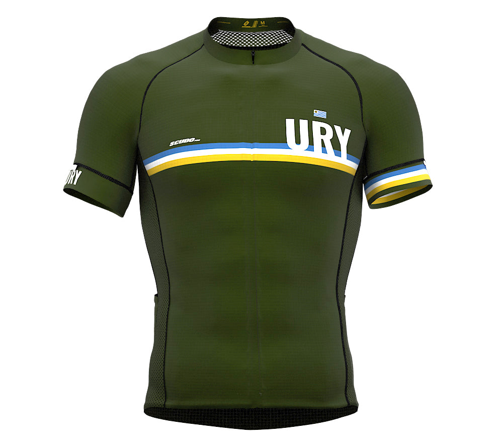 Uruguay Green CODE Short Sleeve Cycling PRO Jersey for Men and WomenUruguay Green CODE Short Sleeve Cycling PRO Jersey for Men and Women