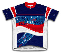 Usa Short Sleeve Cycling Jersey for Men and Women