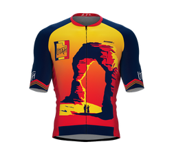 ScudoPro Pro-Elite Short Sleeve Cycling Jersey Utah USA State Icon landmark symbol identity  | Men and Women
