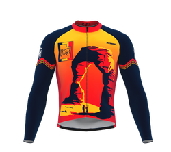 ScudoPro Pro Thermal Long Sleeve Cycling Jersey Utah USA state Icon landmark identity  | Men and Women