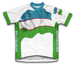 Uzbekistan Flag Cycling Jersey for Men and Women