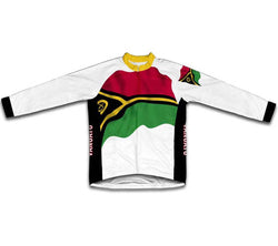Vanuatu Flag Winter Thermal Cycling Jersey