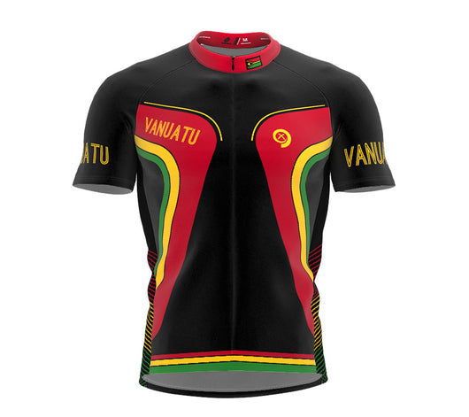 Vanuatu  Full Zipper Bike Short Sleeve Cycling Jersey