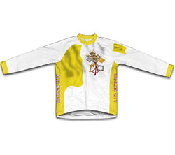 Vatican City Flag Winter Thermal Cycling Jersey
