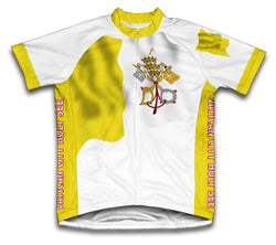 Vatican City Flag Cycling Jersey for Men and Women