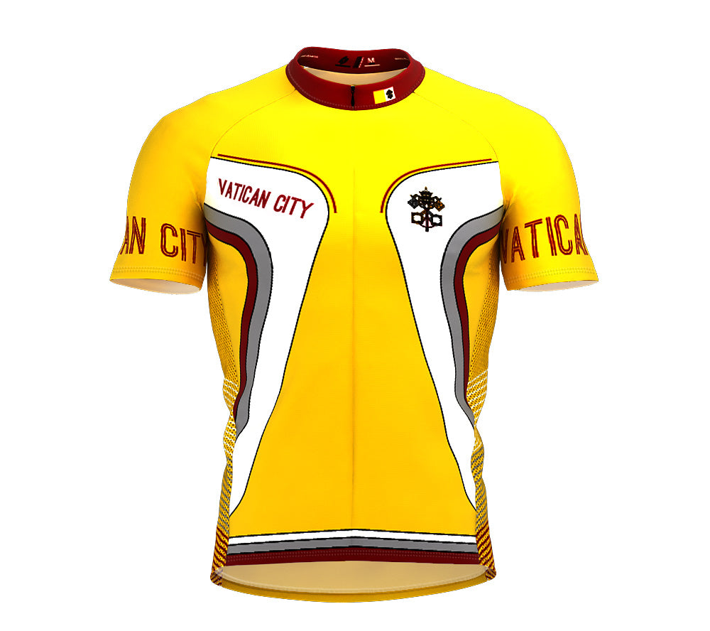 Vatican City  Full Zipper Bike Short Sleeve Cycling Jersey
