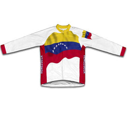 Venezuela Flag Winter Thermal Cycling Jersey