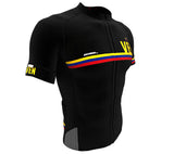 Venezuela Black CODE Short Sleeve Cycling PRO Jersey for Men and Women