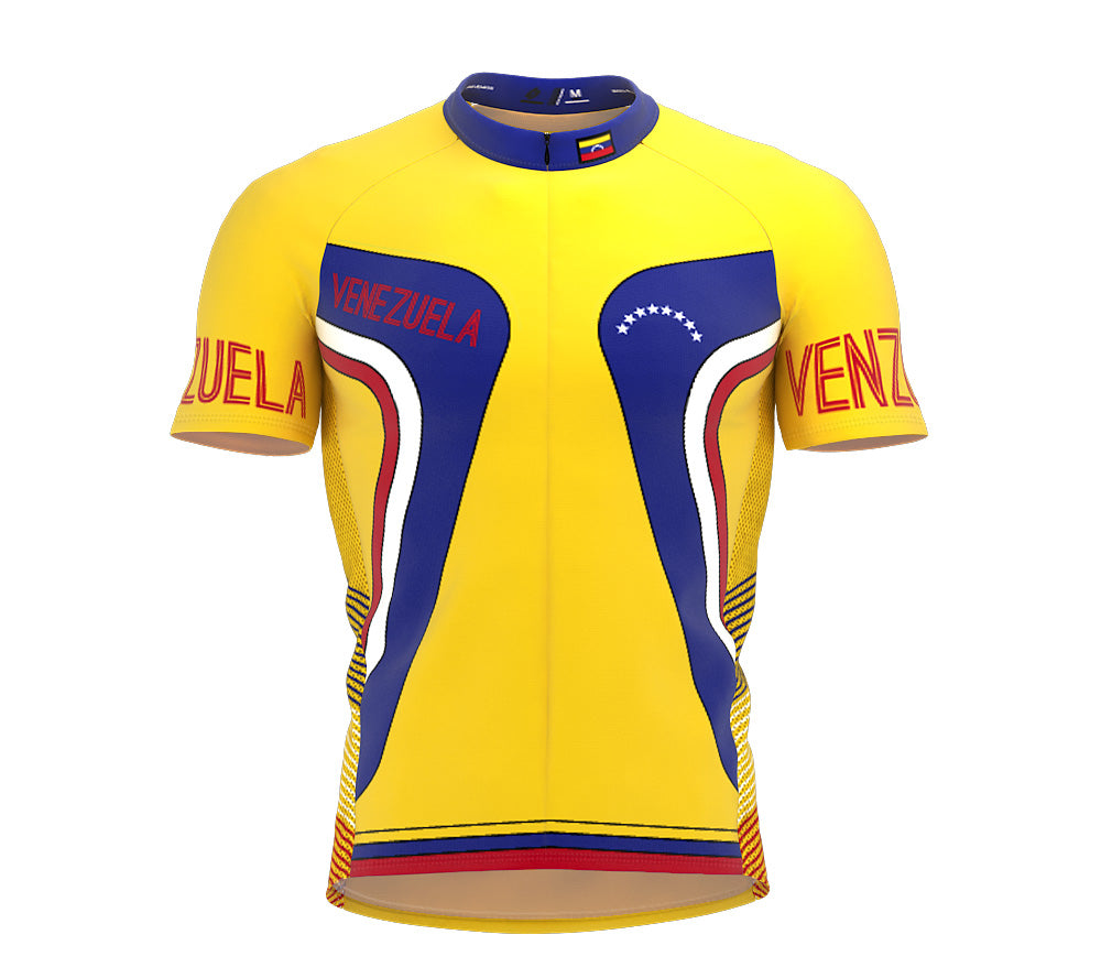 Venezuela  Full Zipper Bike Short Sleeve Cycling Jersey