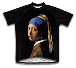 Vermeer - Girl with a Pearl Earring Short Sleeve Cycling Jersey for Men and Women
