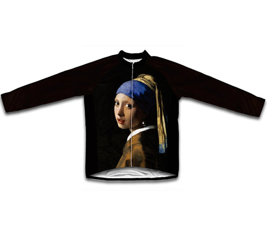 Vermeer Girl with a Pearl Earring Winter Thermal Cycling Jersey