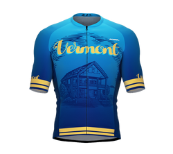 ScudoPro Pro-Elite Short Sleeve Cycling Jersey Vermont USA State Icon landmark symbol identity  | Men and Women